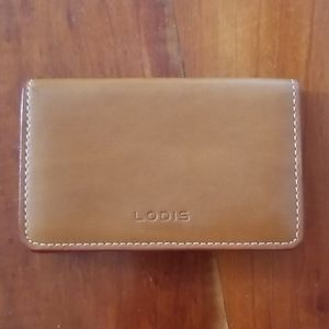 Lodis leather business card holder